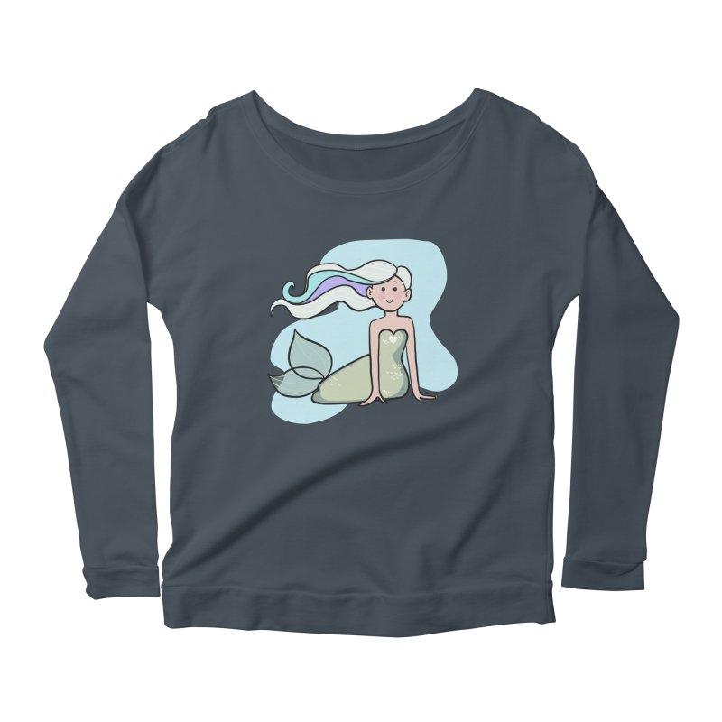 Happy Mermaid Women's Scoop Neck Longsleeve T-Shirt by girlgeek's Artist Shop