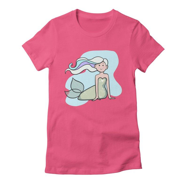 Happy Mermaid Women's T-Shirt by girlgeek's Artist Shop