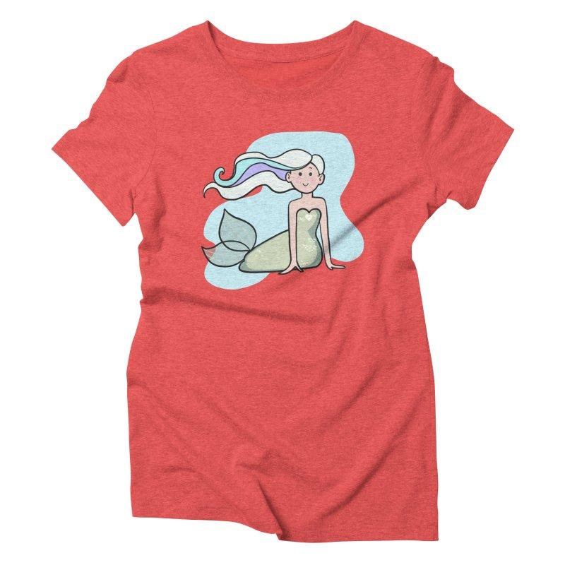 Happy Mermaid Women's Triblend T-Shirt by girlgeek's Artist Shop