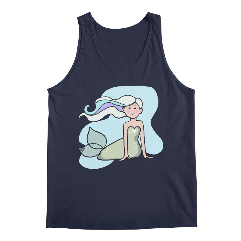 Happy Mermaid Men's Regular Tank by girlgeek's Artist Shop