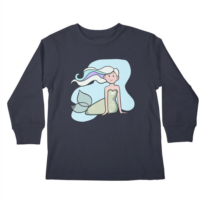 Happy Mermaid Kids Longsleeve T-Shirt by girlgeek's Artist Shop