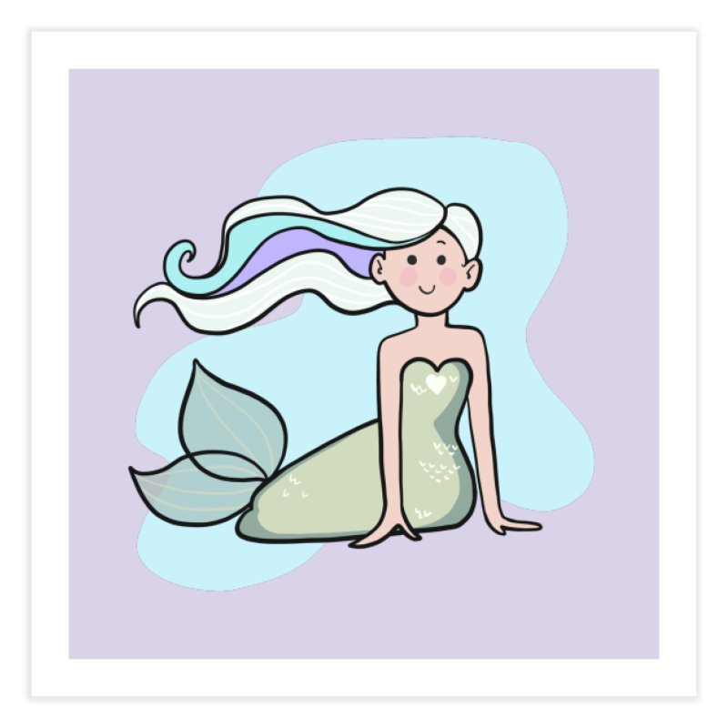 Happy Mermaid Home Fine Art Print by girlgeek's Artist Shop