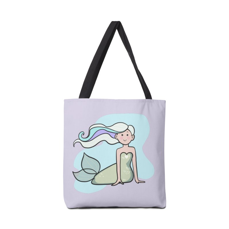 Happy Mermaid Accessories Tote Bag Bag by girlgeek's Artist Shop