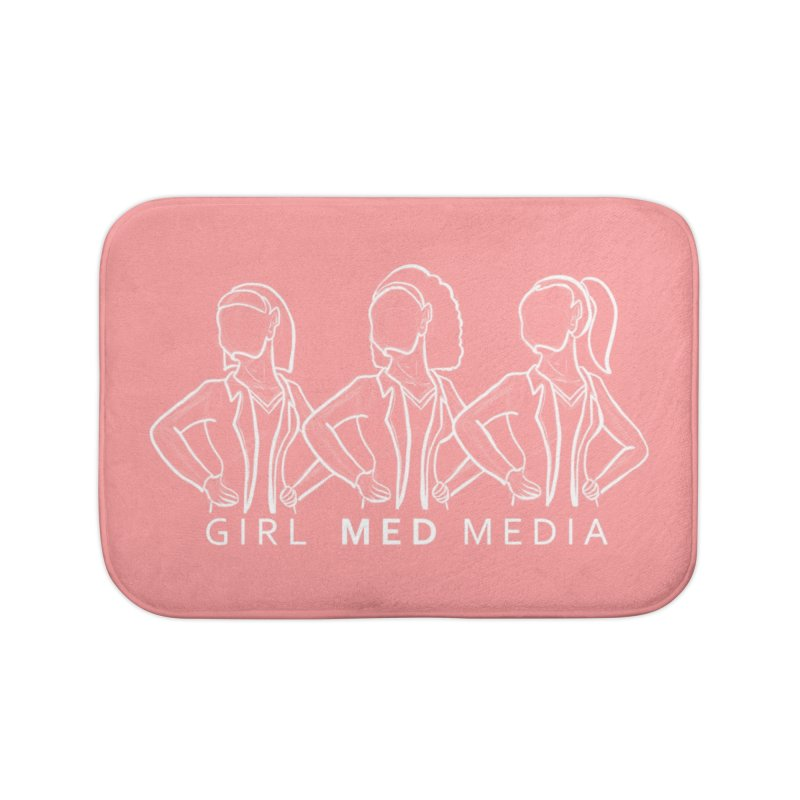 Brighter Together, Pink Home Bath Mat by girl med media's Artist Shop