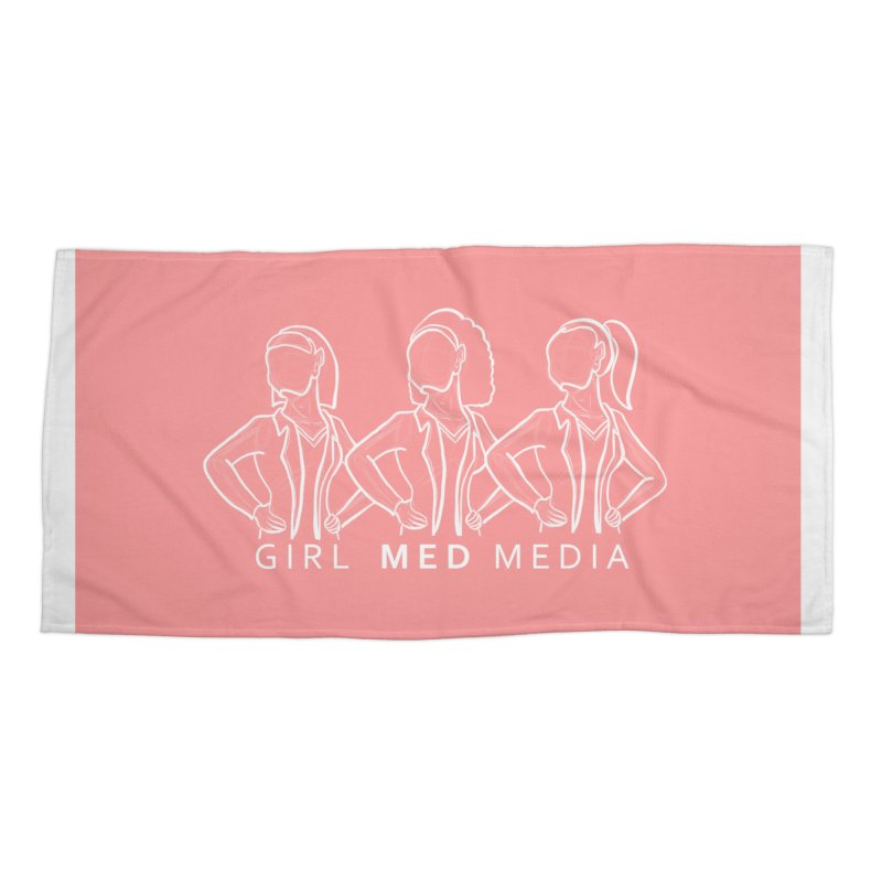 Brighter Together, Pink Accessories Beach Towel by girl med media's Artist Shop