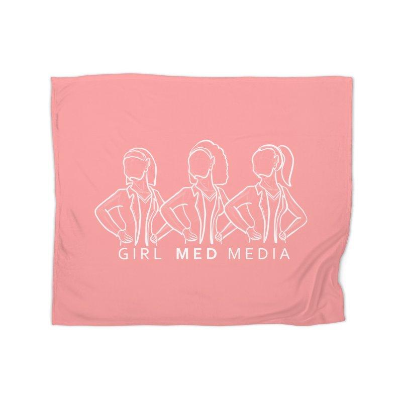 Brighter Together, Pink Home Fleece Blanket Blanket by girl med media's Artist Shop