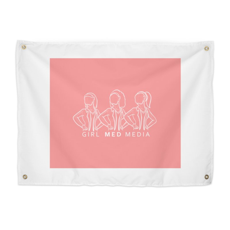 Brighter Together, Pink Home Tapestry by girl med media's Artist Shop