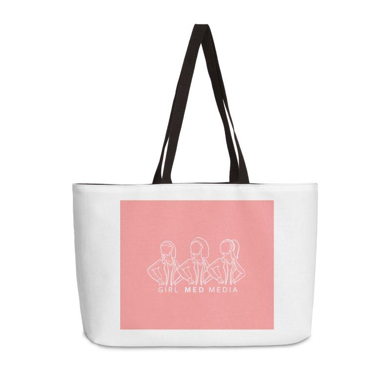 Brighter Together, Pink Accessories Weekender Bag Bag by girl med media's Artist Shop