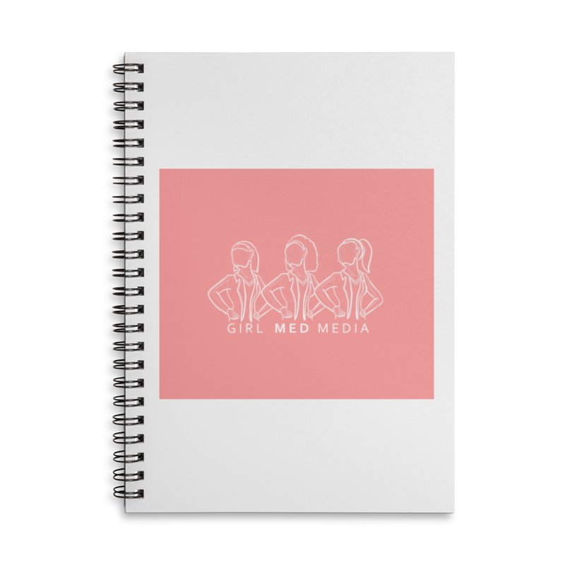 Brighter Together, Pink Accessories Lined Spiral Notebook by girl med media's Artist Shop