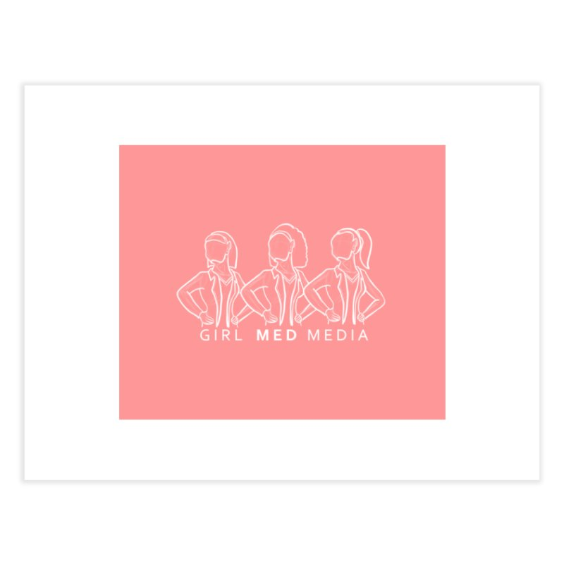 Brighter Together, Pink Home Fine Art Print by girl med media's Artist Shop