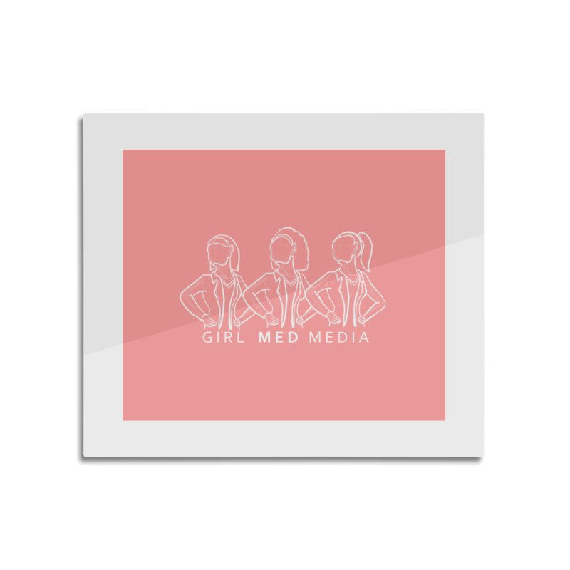 Brighter Together, Pink Home Mounted Acrylic Print by girl med media's Artist Shop