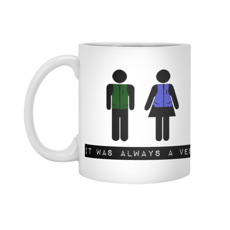 Always a vest in Standard Mug White by girl med media's Artist Shop