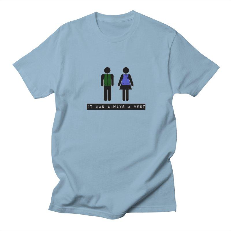 Always a vest Women's Regular Unisex T-Shirt by girl med media's Artist Shop