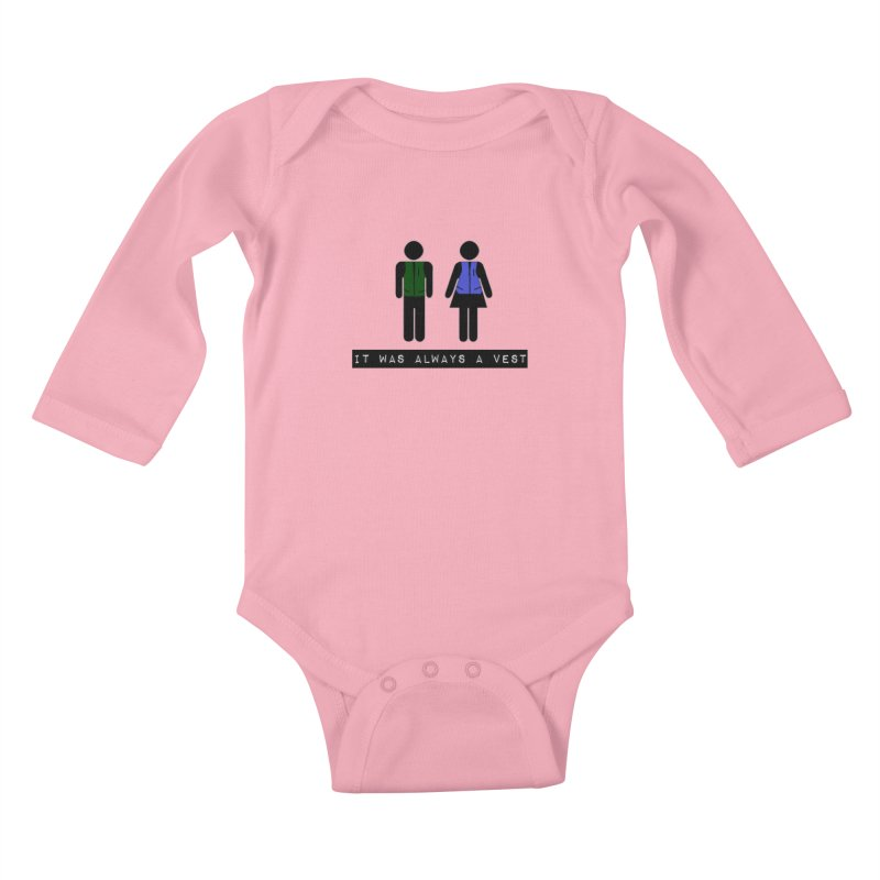 Always a vest Kids Baby Longsleeve Bodysuit by girl med media's Artist Shop
