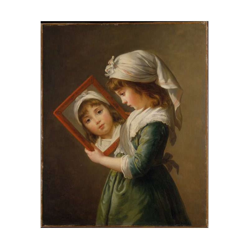 """Julie Le Brun, """"Looking in a Mirror"""" (1787) by Girl Museum Boutique"""