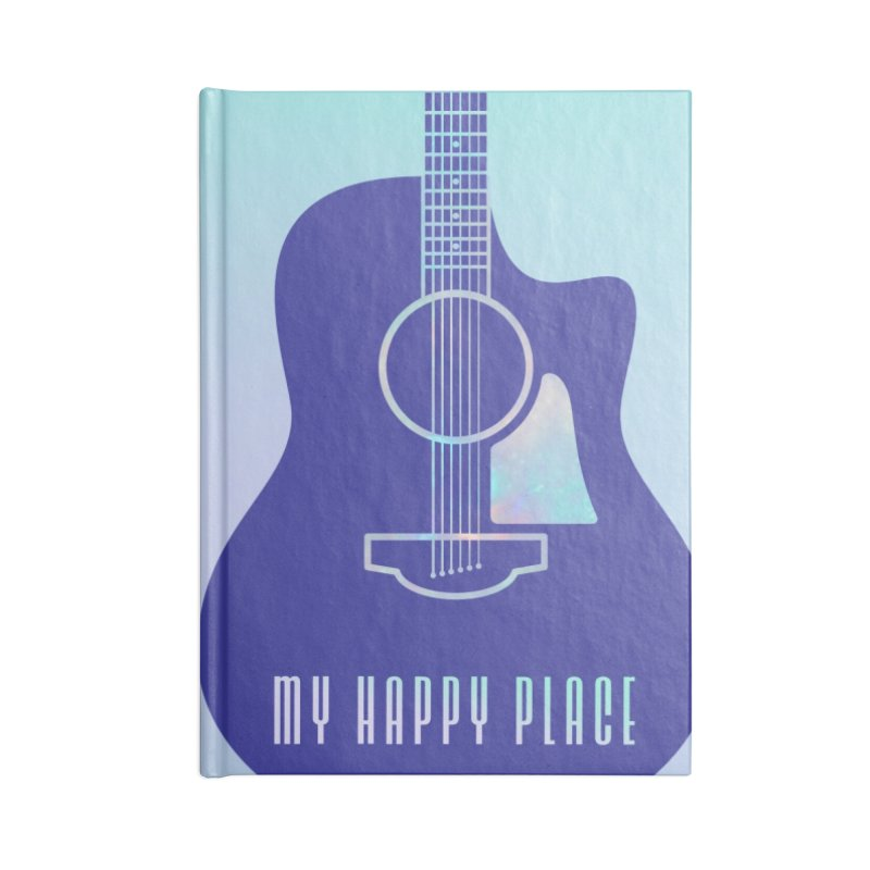 My Happy Place Songwriting Journal Accessories Notebook by Girls and Guitars Shop