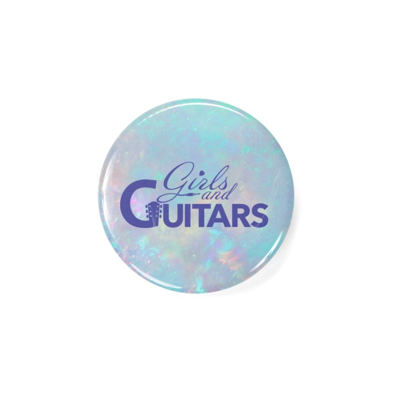Girls and Guitars Blue Accessories Button by Girls and Guitars Shop