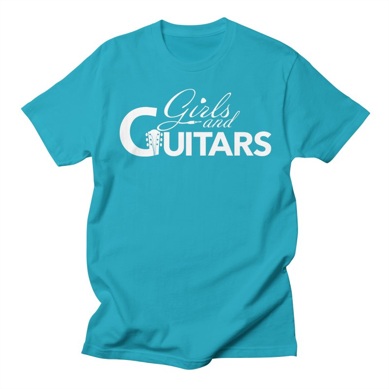 Girls and Guitars Blue Women's T-Shirt by Girls and Guitars Shop