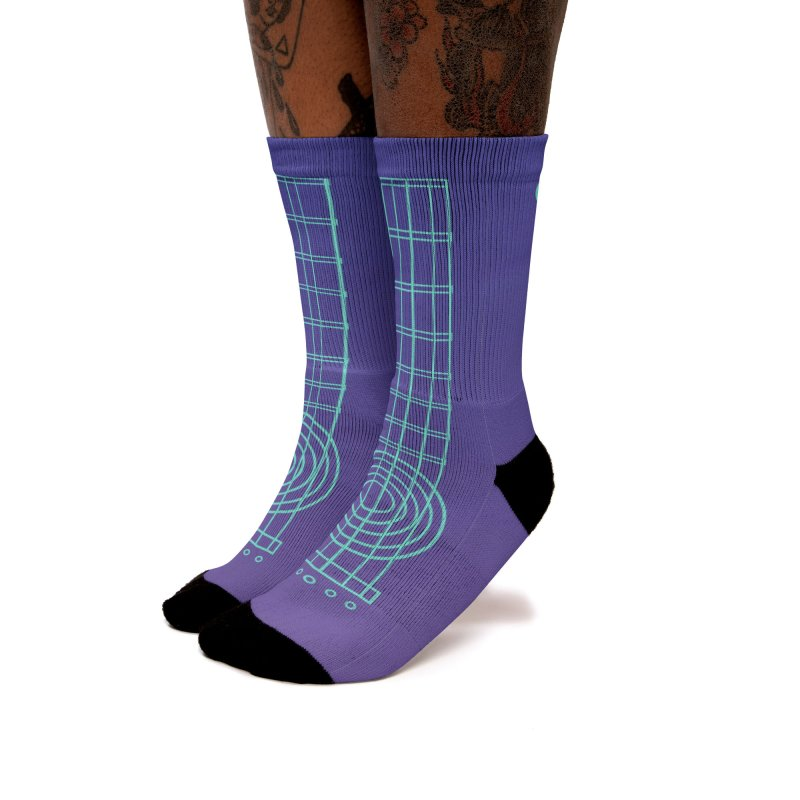 Guitar Aqua Blue Women's Socks by Girls and Guitars Shop