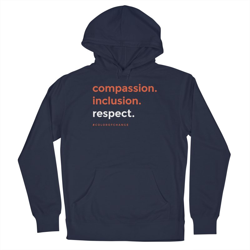 Compassion+Inclusion+Respect Men's Pullover Hoody by GGUX APPAREL: ALL PROCEEDS TO BLACK LIV