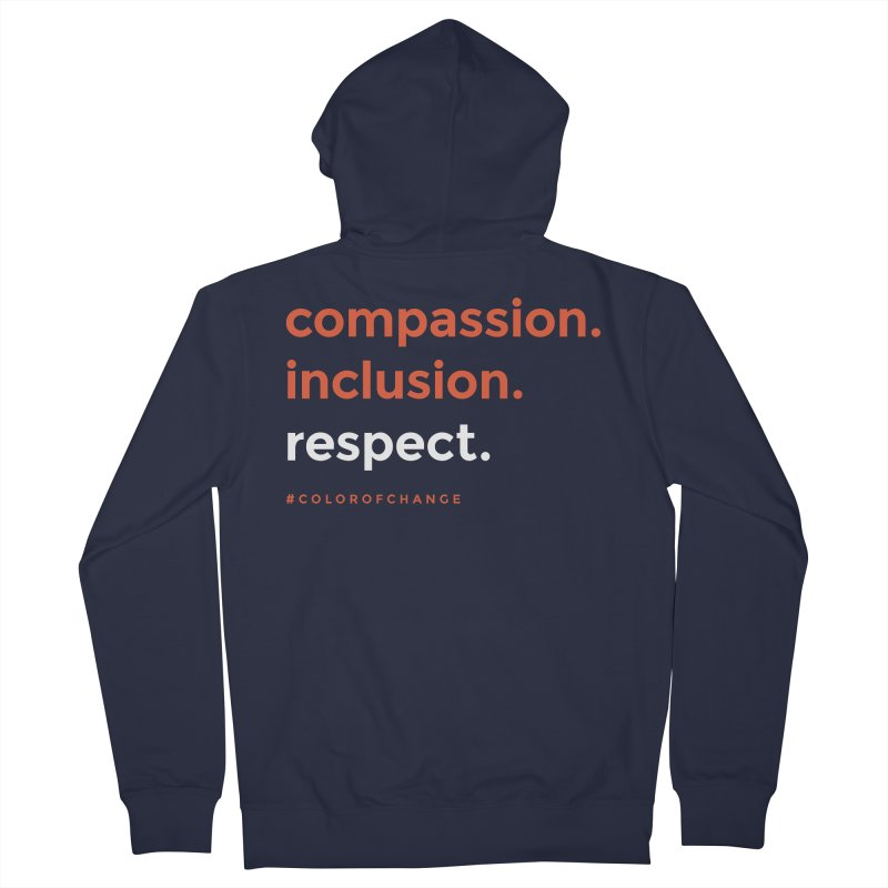 Compassion+Inclusion+Respect Women's Zip-Up Hoody by GGUX APPAREL: ALL PROCEEDS TO BLACK LIV