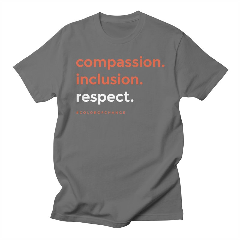 Compassion+Inclusion+Respect Women's T-Shirt by GGUX APPAREL: ALL PROCEEDS TO BLACK LIV