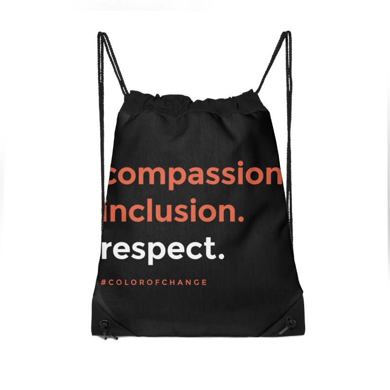 Compassion+Inclusion+Respect Accessories Bag by GGUX APPAREL: ALL PROCEEDS TO BLACK LIV