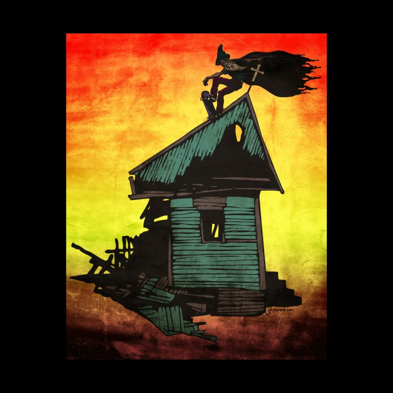 Wizard on the Roof - Graphic Print   by gk artwork's Artist Shop