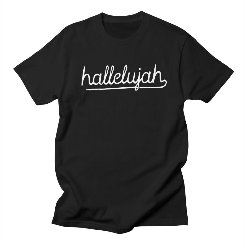 hallelujah x white in Men's T-Shirt Black by GL0W Store