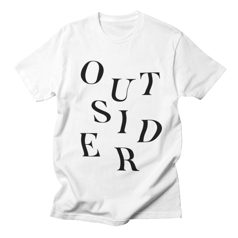 OUTSIDER x black in Men's T-Shirt White by GL0W Store
