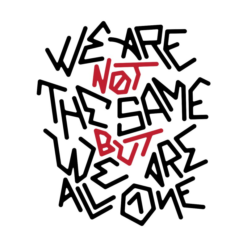 We are not the same BUT - black by GL0W Store