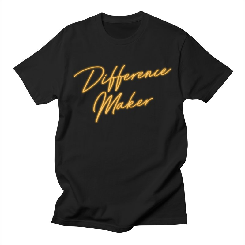Difference Maker in Men's Regular T-Shirt Black by GL0W Store