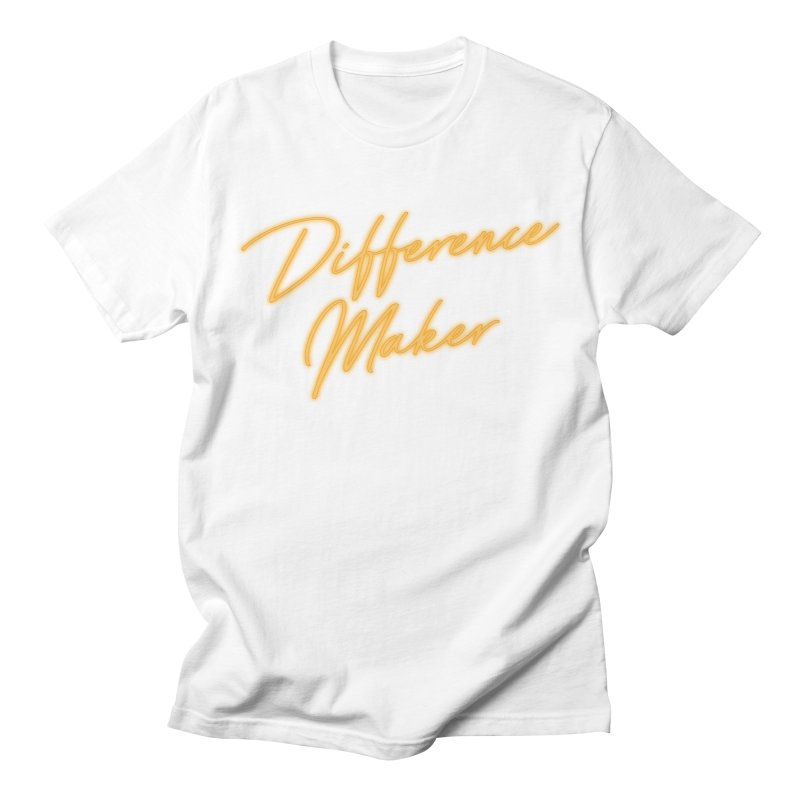 Difference Maker in Men's Regular T-Shirt White by GL0W Store