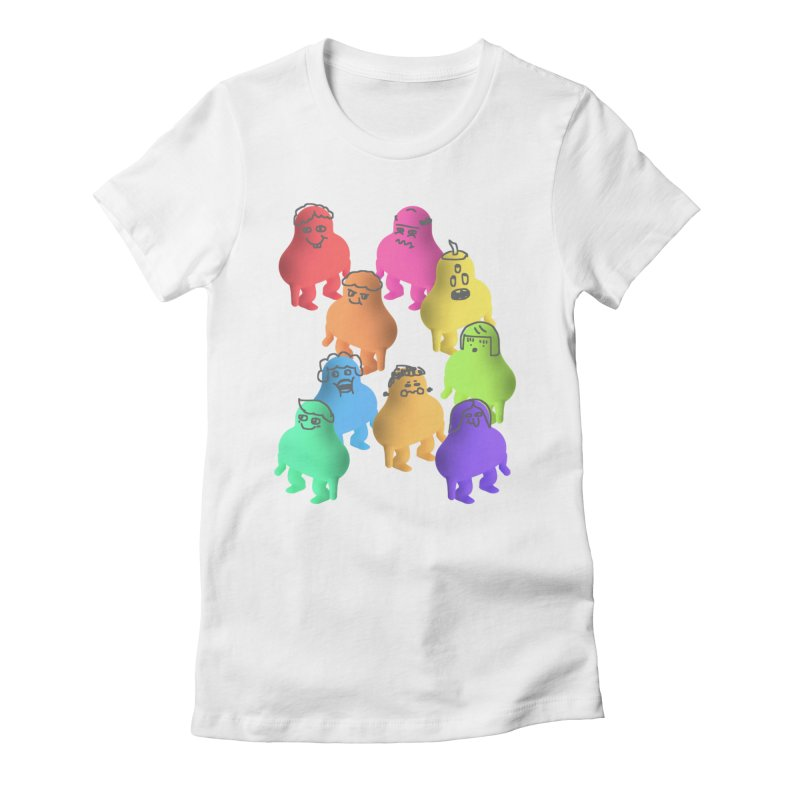 Some Crowd Women's Fitted T-Shirt by Glander by Glander