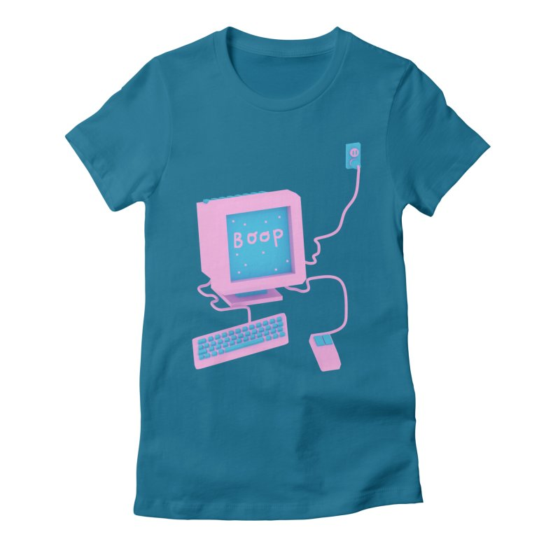 Computers Women's Fitted T-Shirt by Glander by Glander