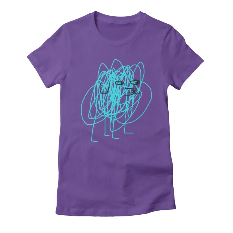 scribbledog Women's Fitted T-Shirt by Glander by Glander