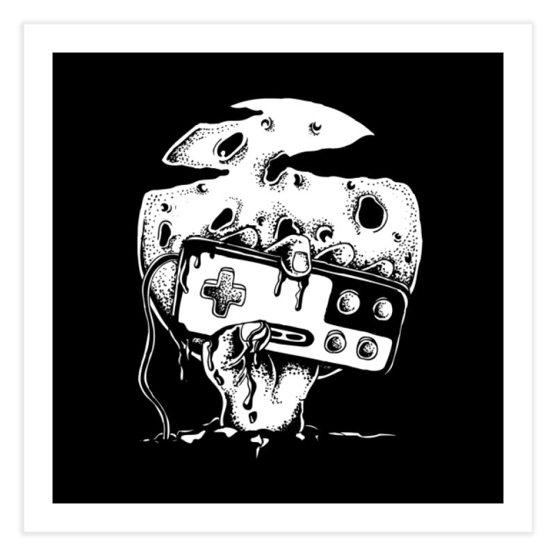 Gamer Til Death Home Fine Art Print by Glenkeso Designs
