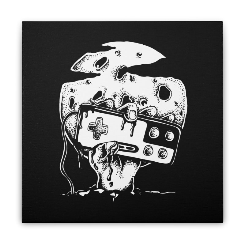Gamer Til Death Home Stretched Canvas by Glenkeso Designs
