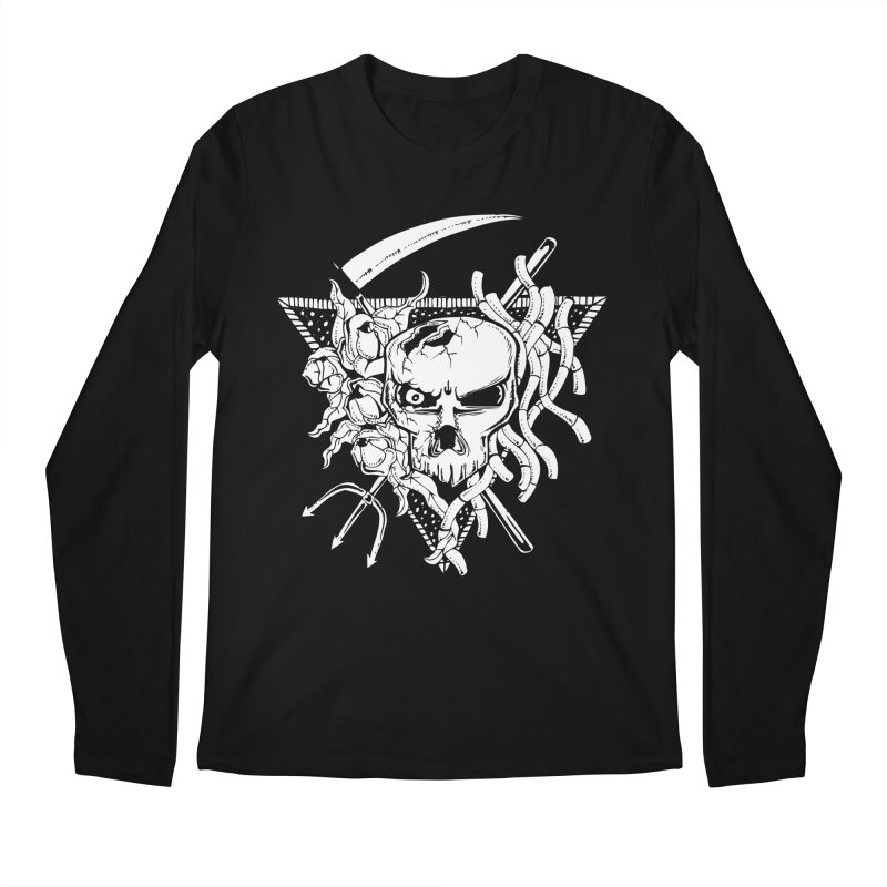The Grim Men's Longsleeve T-Shirt by Glenkeso Designs