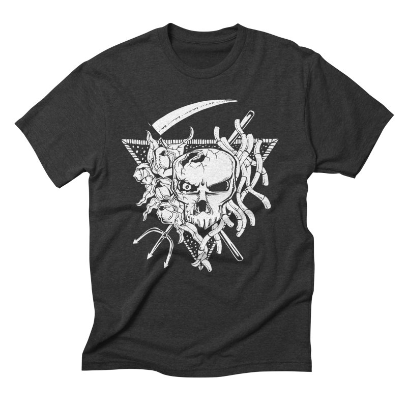 The Grim Men's Triblend T-Shirt by Glenkeso Designs