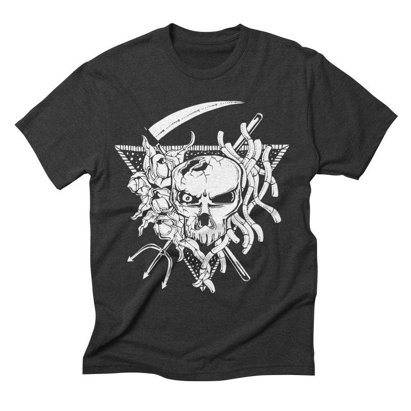 The Grim Men's Triblend T-shirt by Glenkeso Designs