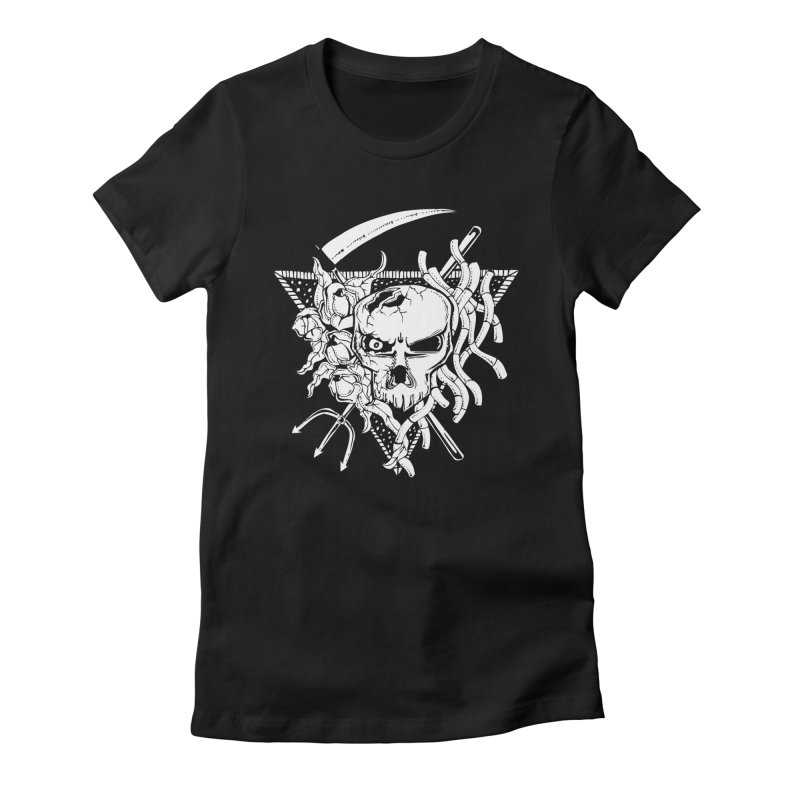 The Grim Women's Fitted T-Shirt by Glenkeso Designs