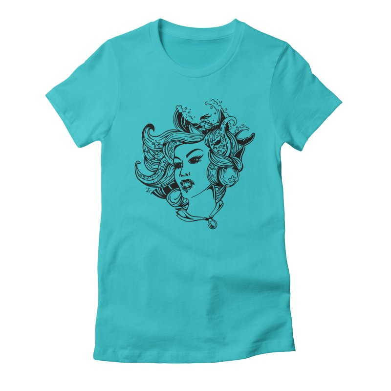 Happy Hair Day Women's Fitted T-Shirt by Glenkeso Designs