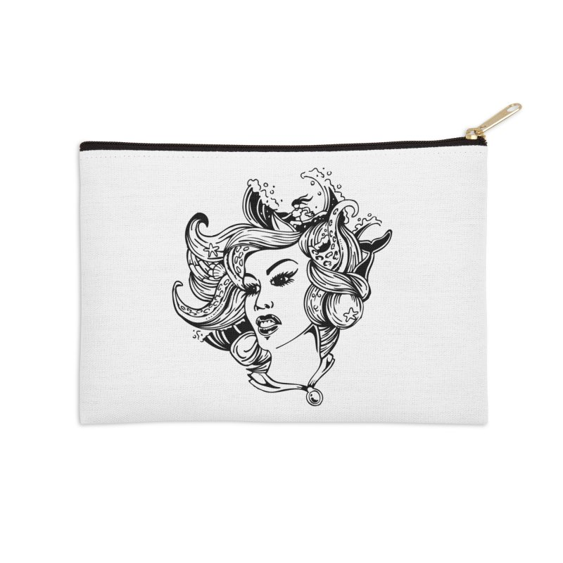 Happy Hair Day Accessories Zip Pouch by Glenkeso Designs