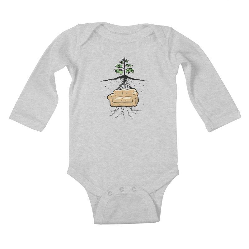 Couch Potato Kids Baby Longsleeve Bodysuit by Glennz