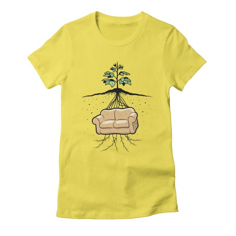 Couch Potato Women's T-Shirt by Glennz