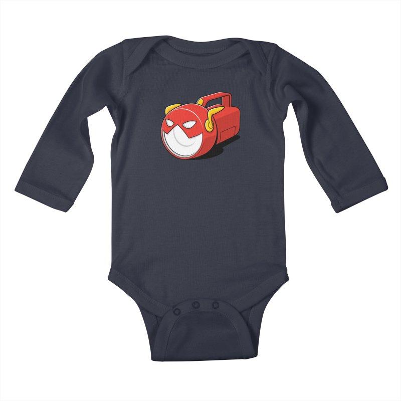 Flashlight Kids Baby Longsleeve Bodysuit by Glennz