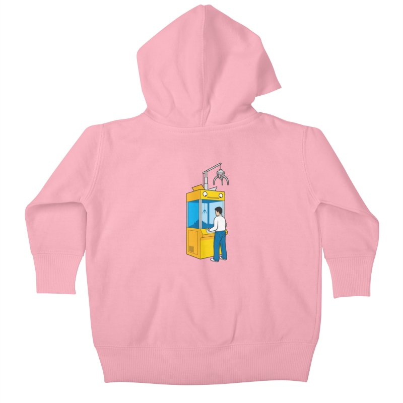 Crane Game Kids Baby Zip-Up Hoody by Glennz