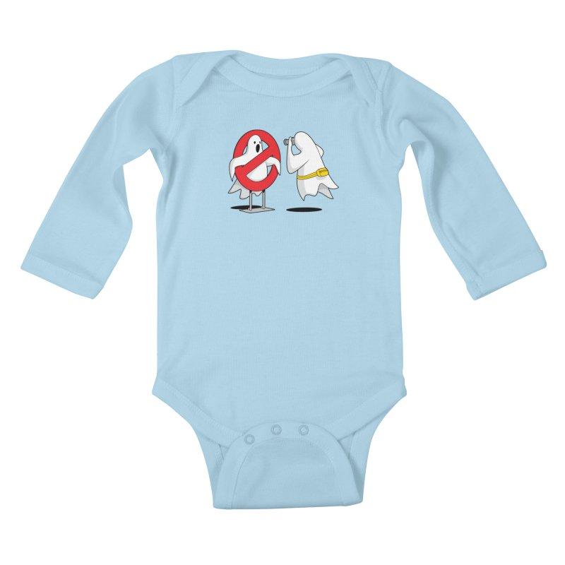 Ghost Tourists Kids Baby Longsleeve Bodysuit by Glennz