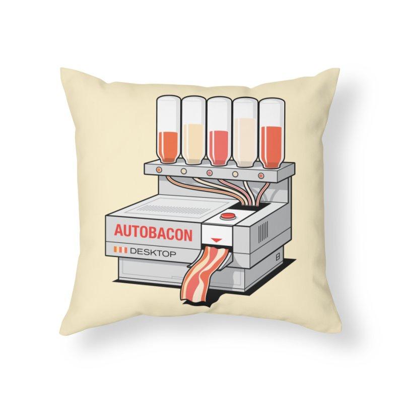 Autobacon Home Throw Pillow by Glennz